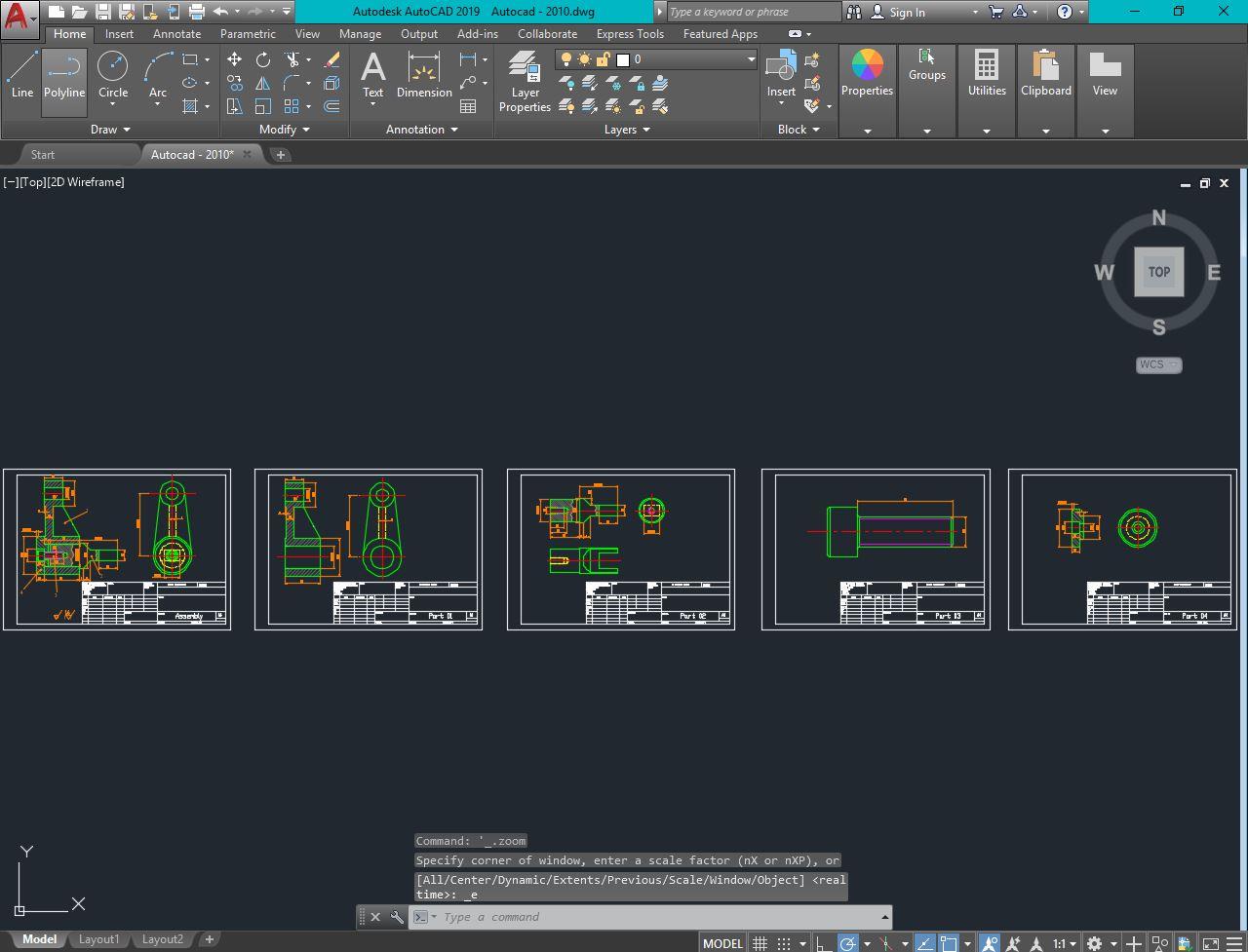 پروژه طراحی نقشه ترکیبی با سالیدورک