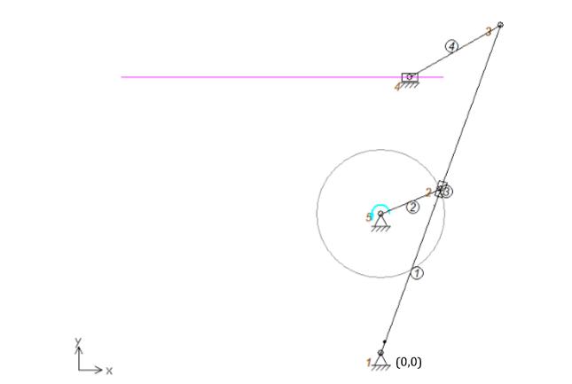 پروژه شبیه سازی مکانیزم حرکت برگشت سریع اهرم شیاردار با نرم افزار Artas SAM